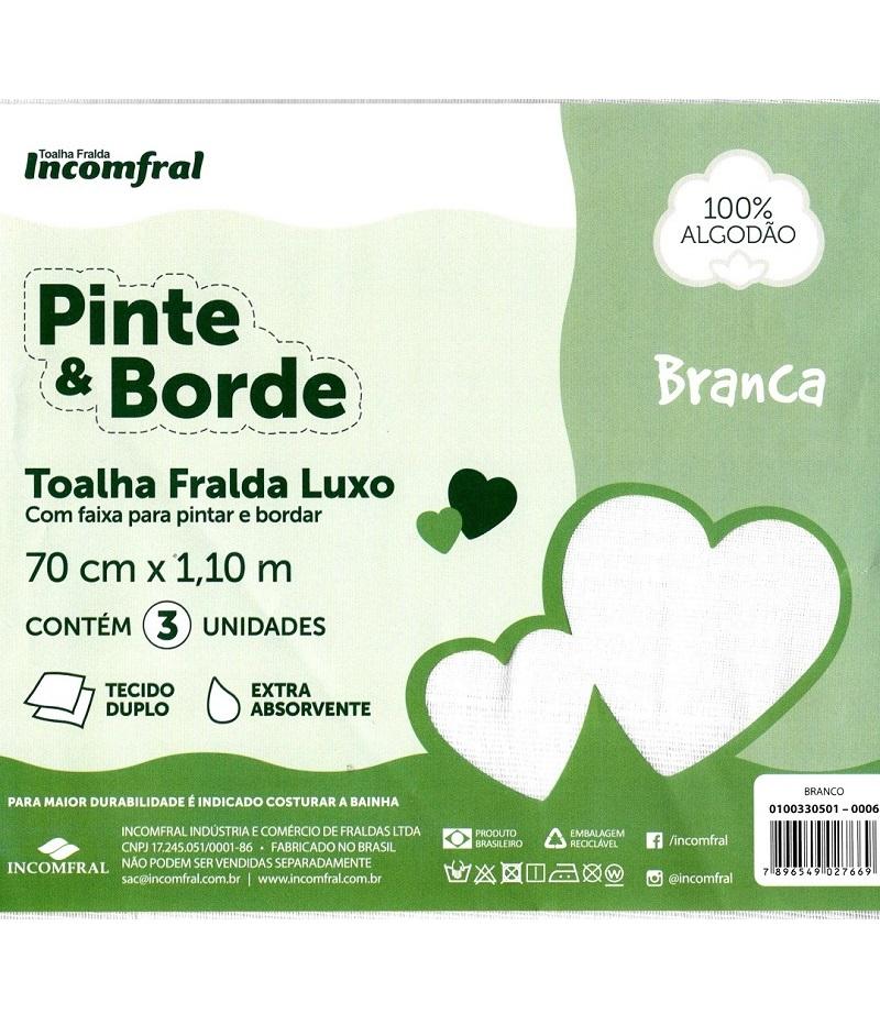 Incomfral Pinte e borde Luxo Toalha fralda1